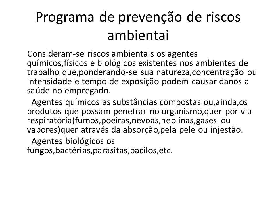 Programa de prevenção de riscos ambientai