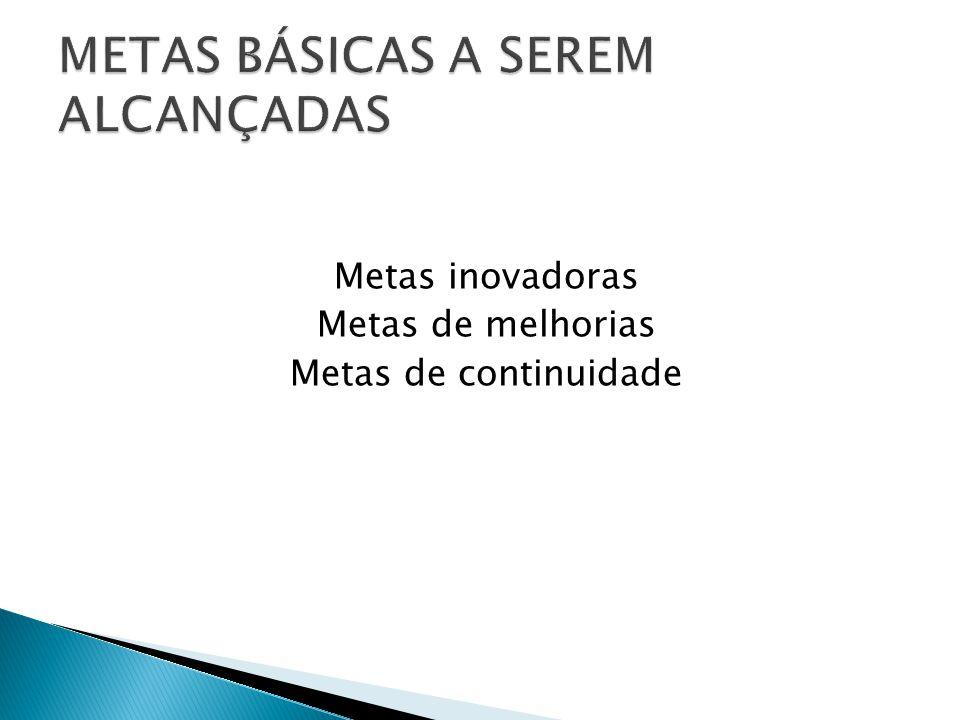 METAS BÁSICAS A SEREM ALCANÇADAS