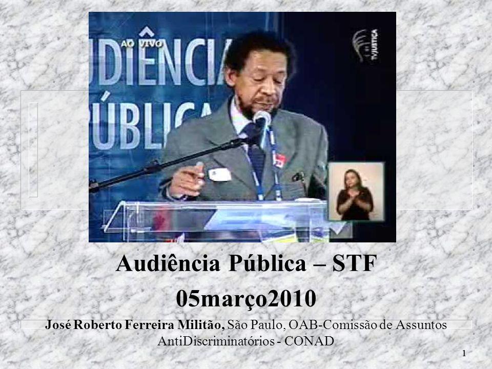Audiência Pública – STF