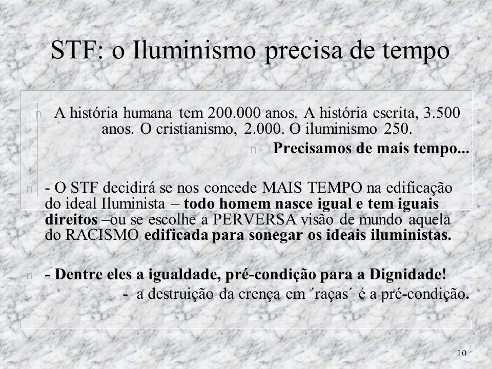 STF: o Iluminismo precisa de tempo