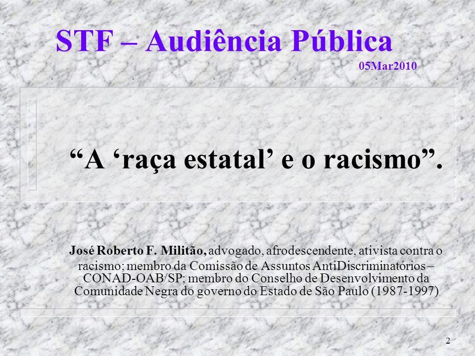 STF – Audiência Pública 05Mar2010