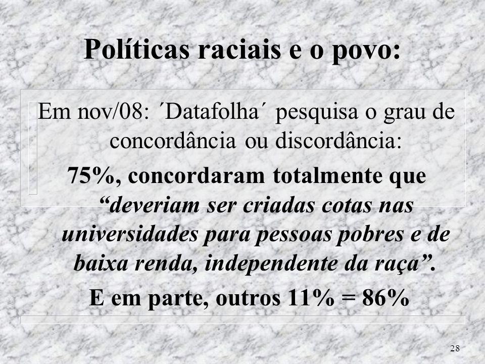 Políticas raciais e o povo: