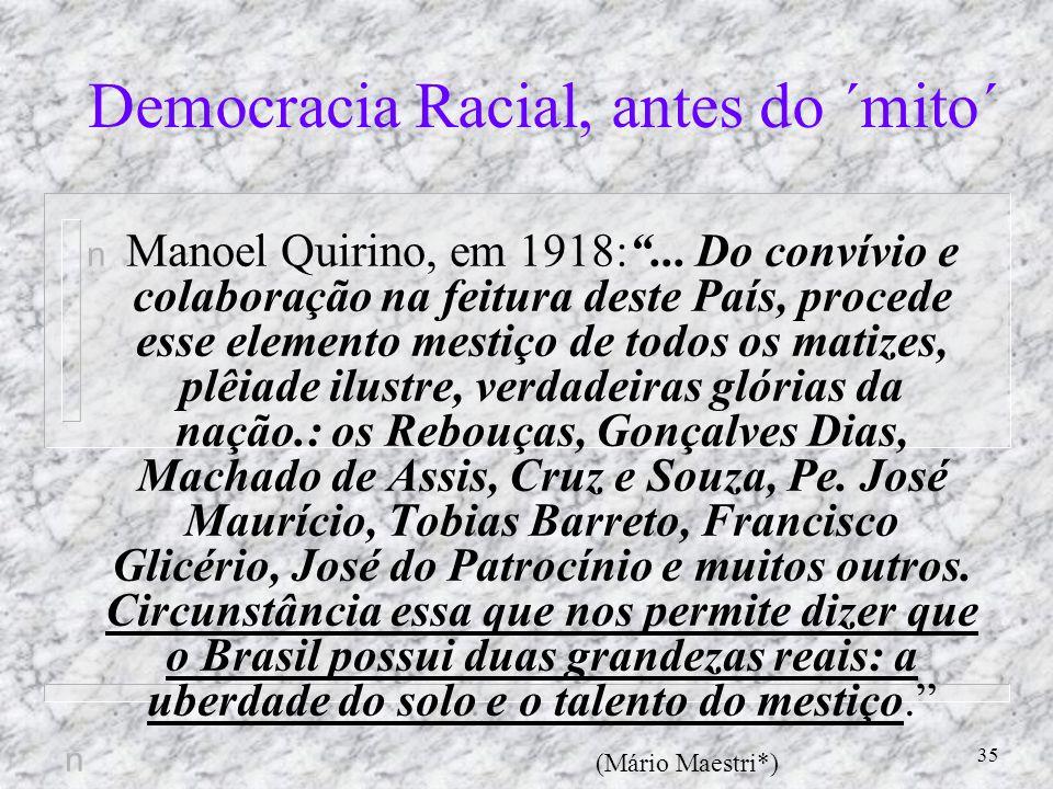 Democracia Racial, antes do ´mito´