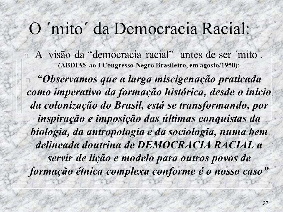 O ´mito´ da Democracia Racial: