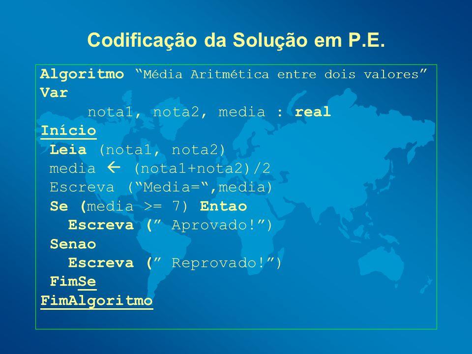 Codificação da Solução em P.E.