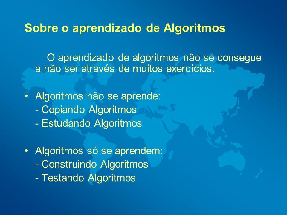 Sobre o aprendizado de Algoritmos
