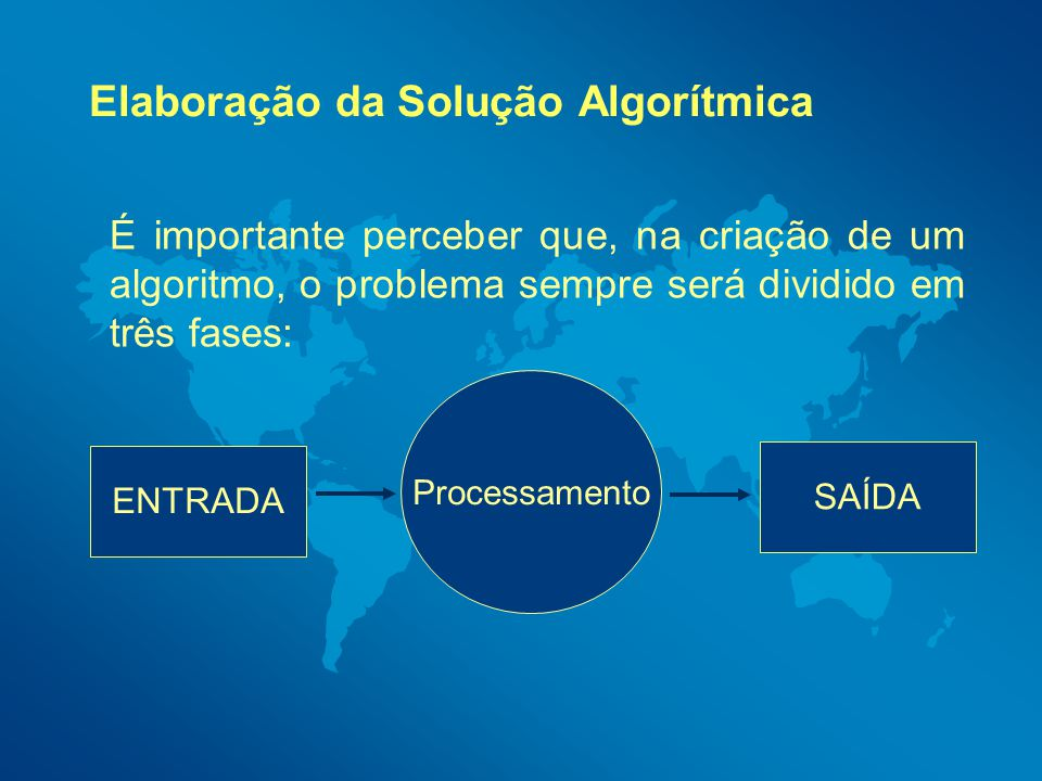 Elaboração da Solução Algorítmica