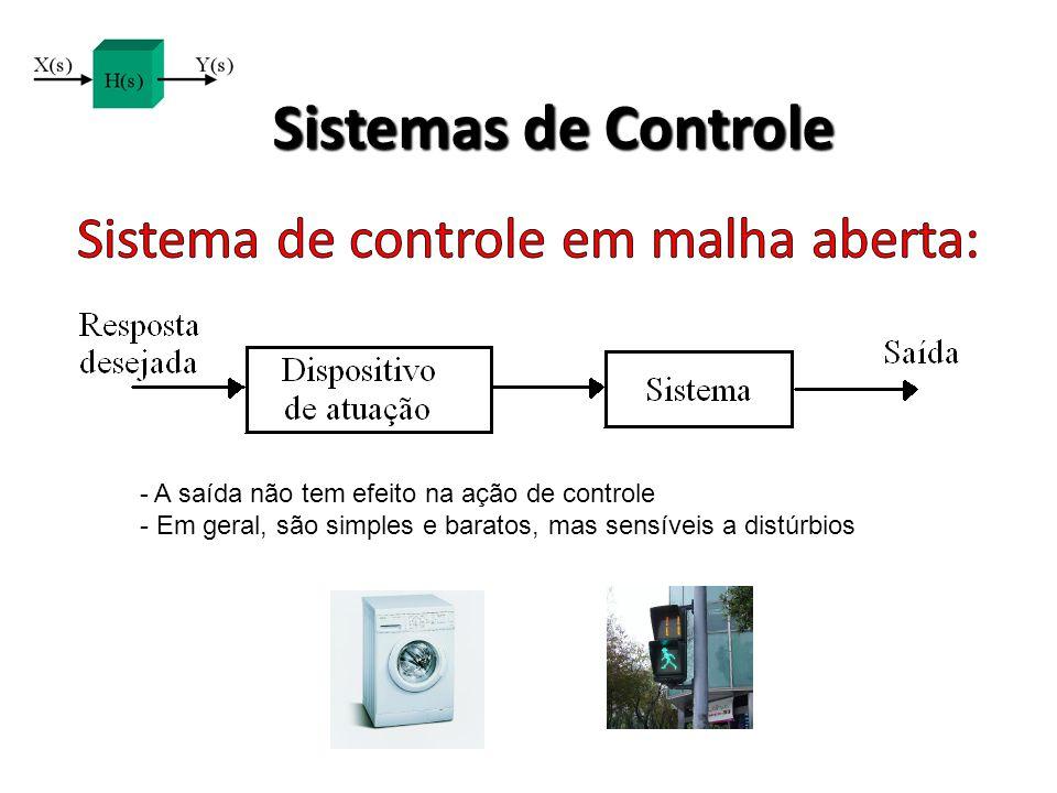 Sistema de controle em malha aberta:
