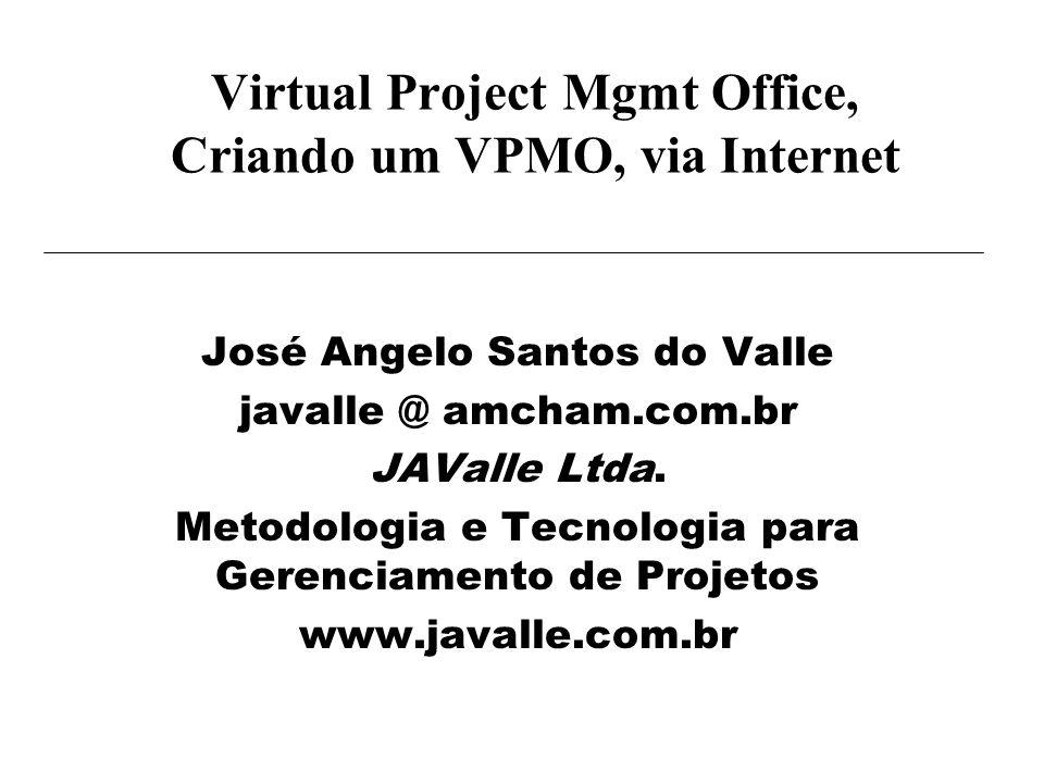 Virtual Project Mgmt Office, Criando um VPMO, via Internet