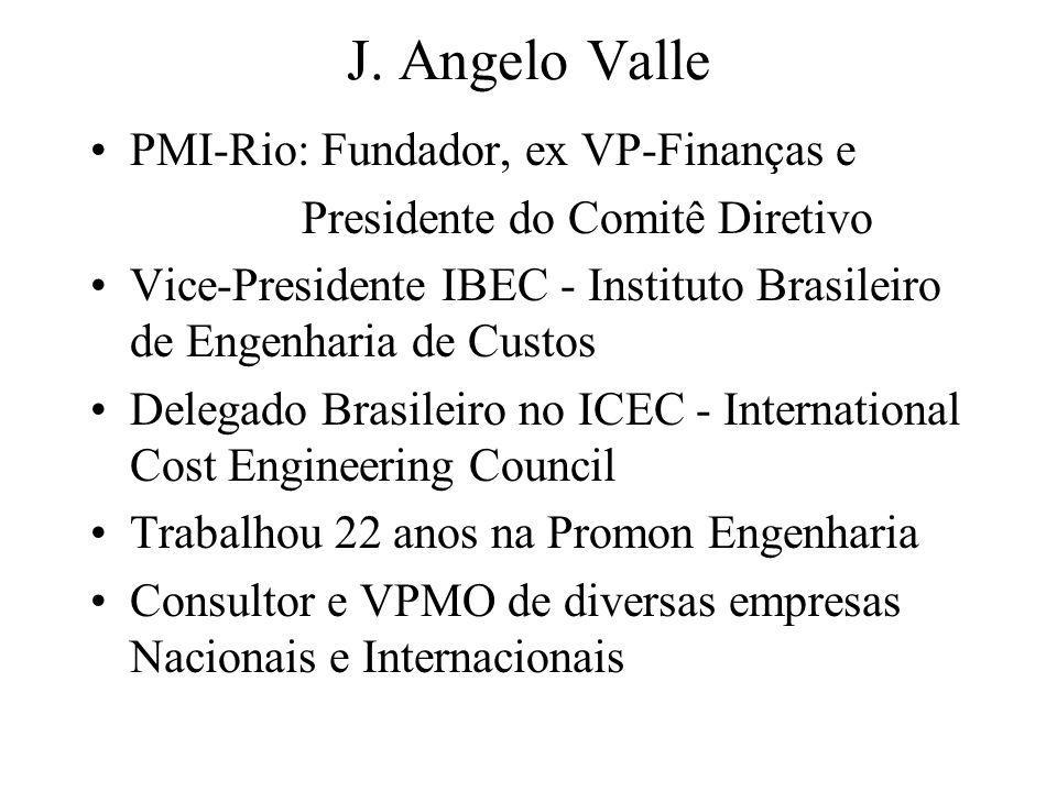 J. Angelo Valle PMI-Rio: Fundador, ex VP-Finanças e