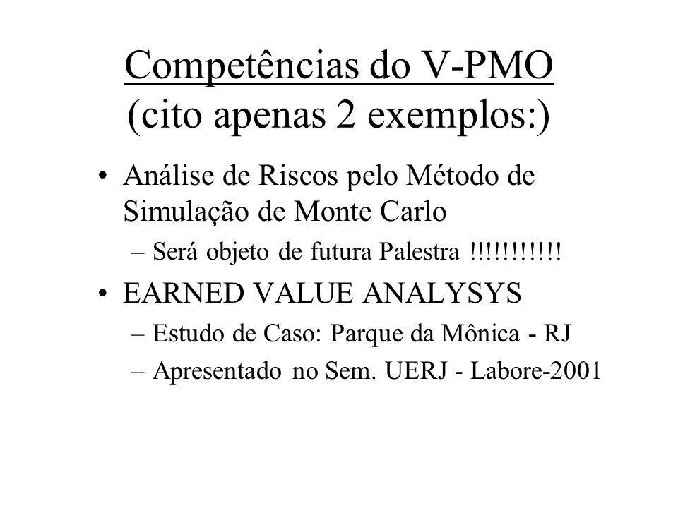 Competências do V-PMO (cito apenas 2 exemplos:)