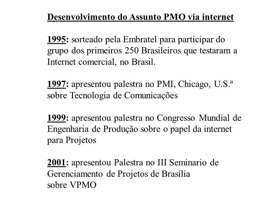 Desenvolvimento do Assunto PMO via internet