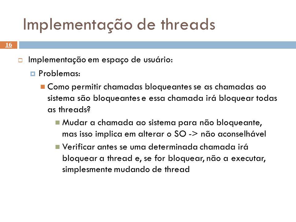 Implementação de threads