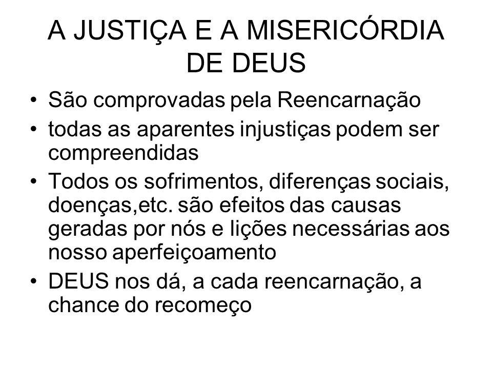 A JUSTIÇA E A MISERICÓRDIA DE DEUS