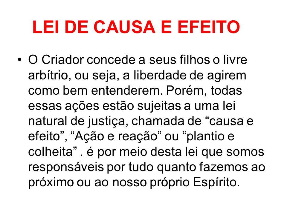 LEI DE CAUSA E EFEITO