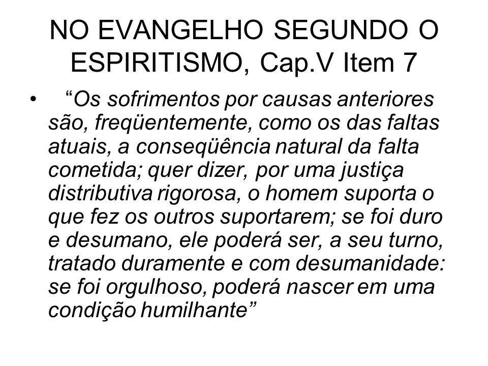 NO EVANGELHO SEGUNDO O ESPIRITISMO, Cap.V Item 7
