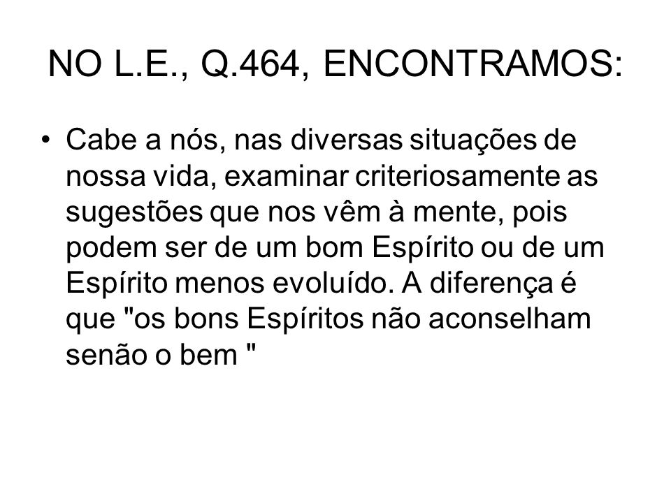 NO L.E., Q.464, ENCONTRAMOS: