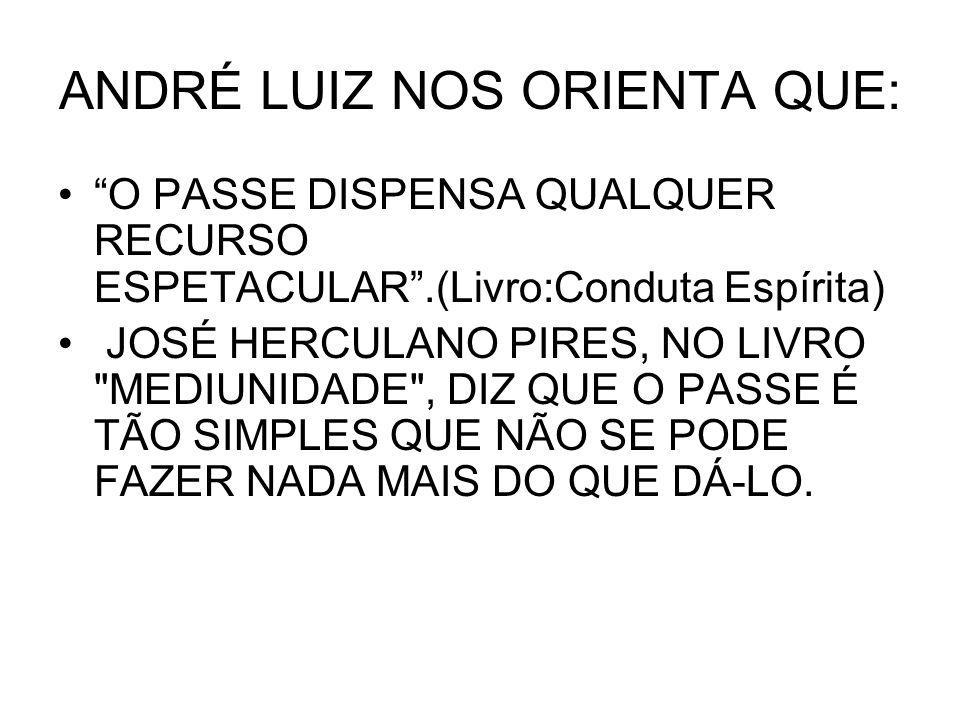 ANDRÉ LUIZ NOS ORIENTA QUE: