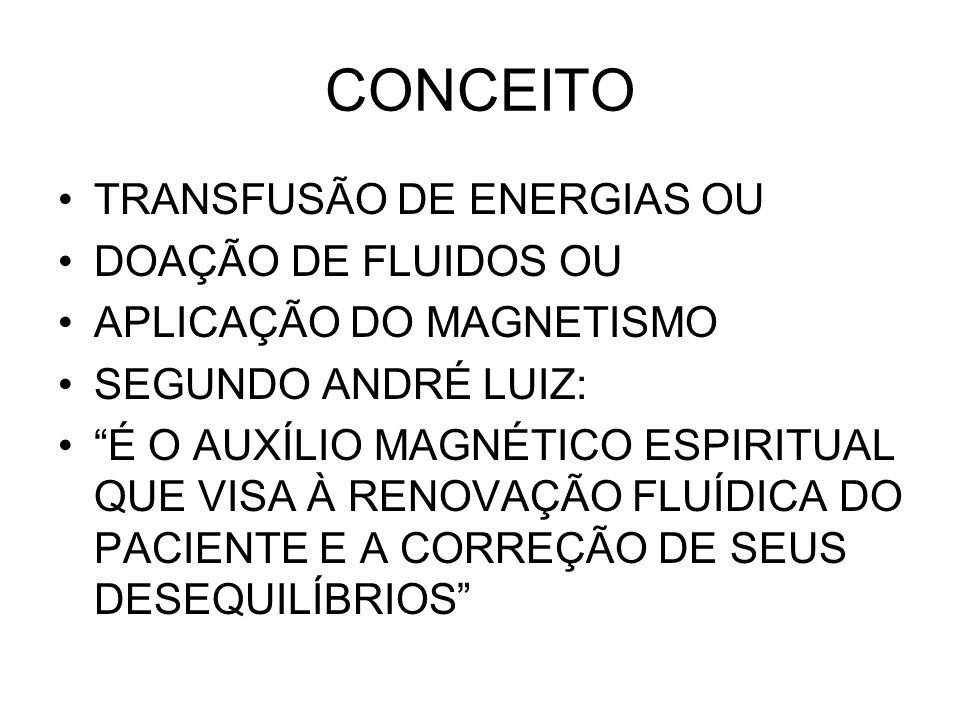 CONCEITO TRANSFUSÃO DE ENERGIAS OU DOAÇÃO DE FLUIDOS OU