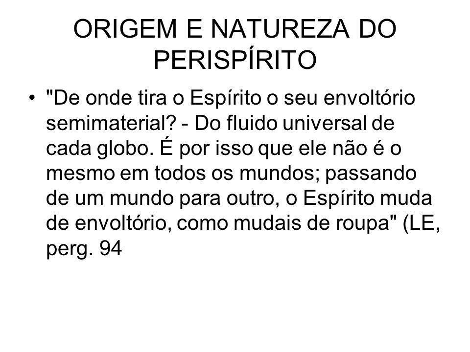 ORIGEM E NATUREZA DO PERISPÍRITO