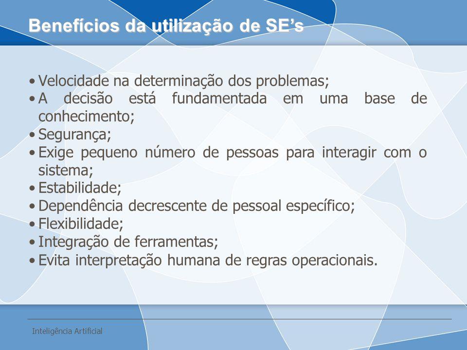 Benefícios da utilização de SE's