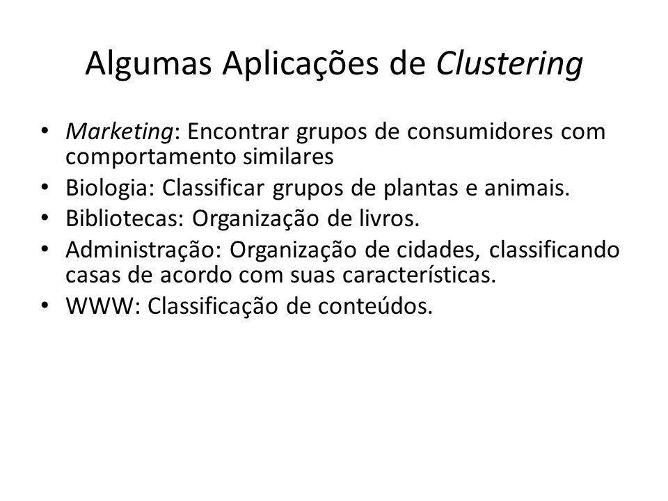 Algumas Aplicações de Clustering