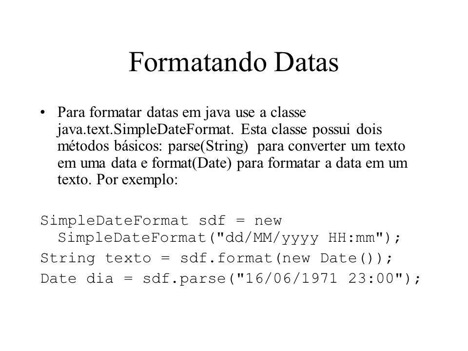 Formatando Datas