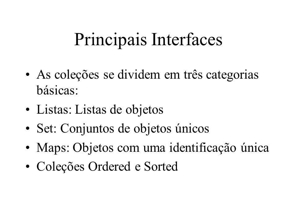 Principais Interfaces
