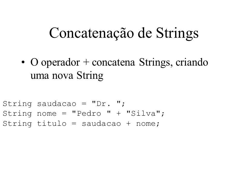 Concatenação de Strings
