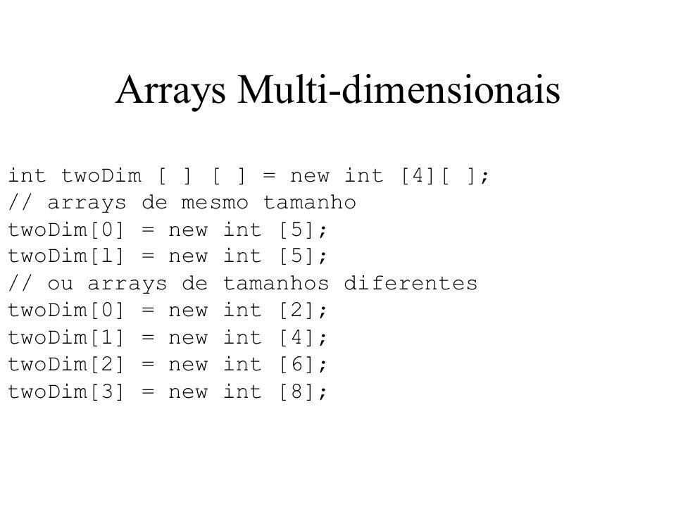 Arrays Multi-dimensionais