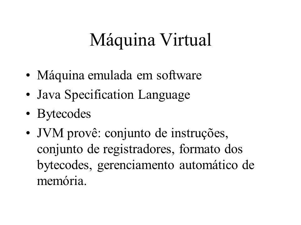 Máquina Virtual Máquina emulada em software