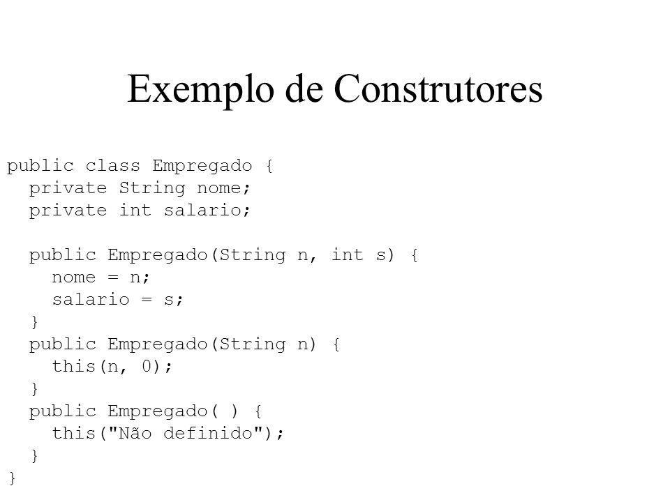 Exemplo de Construtores