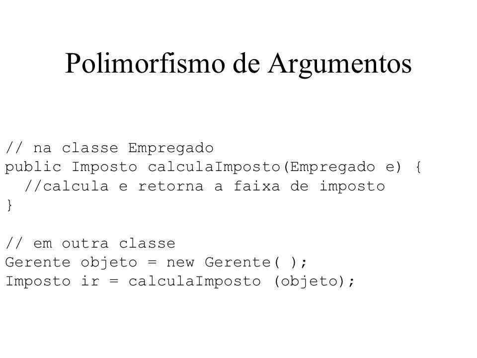 Polimorfismo de Argumentos