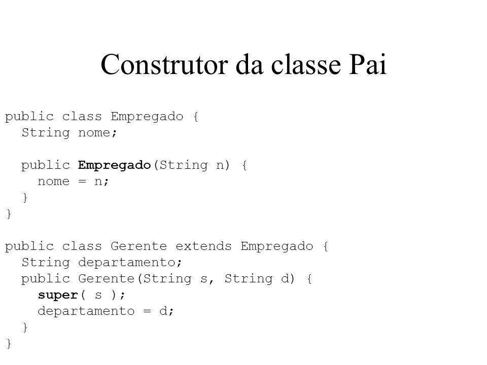 Construtor da classe Pai