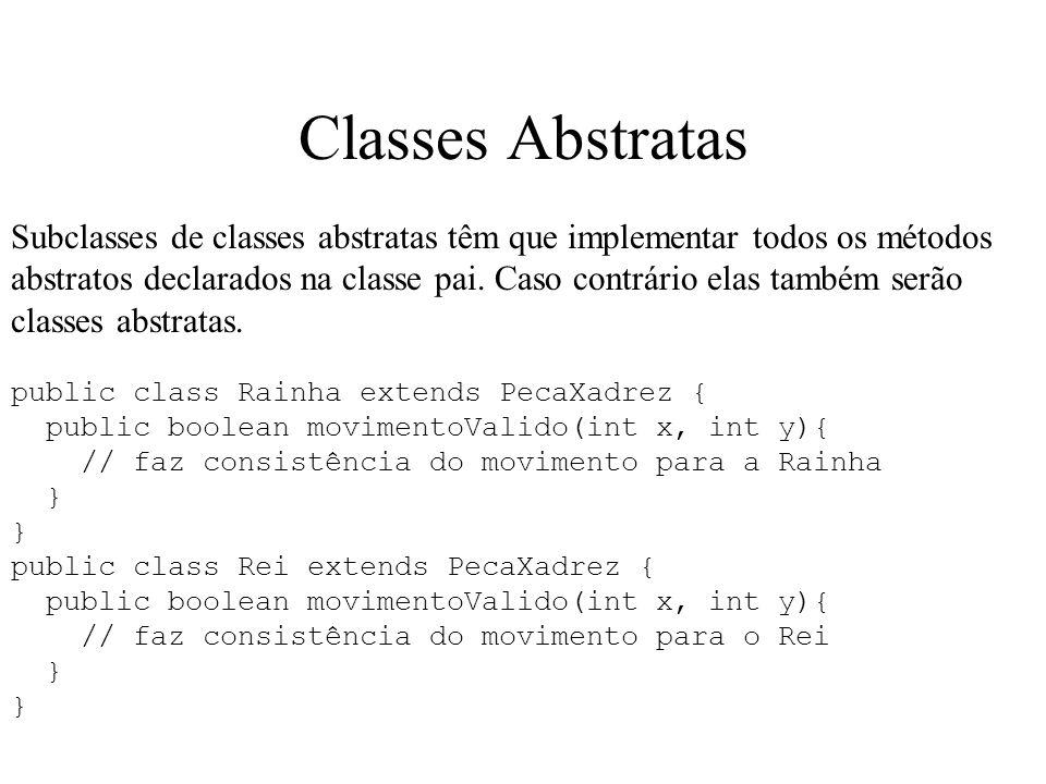 Classes Abstratas