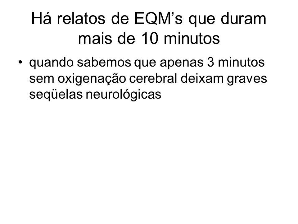 Há relatos de EQM's que duram mais de 10 minutos