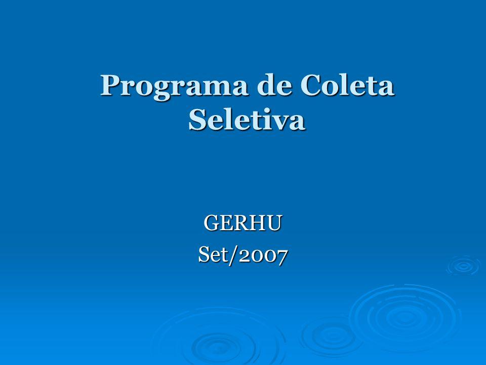 Programa de Coleta Seletiva