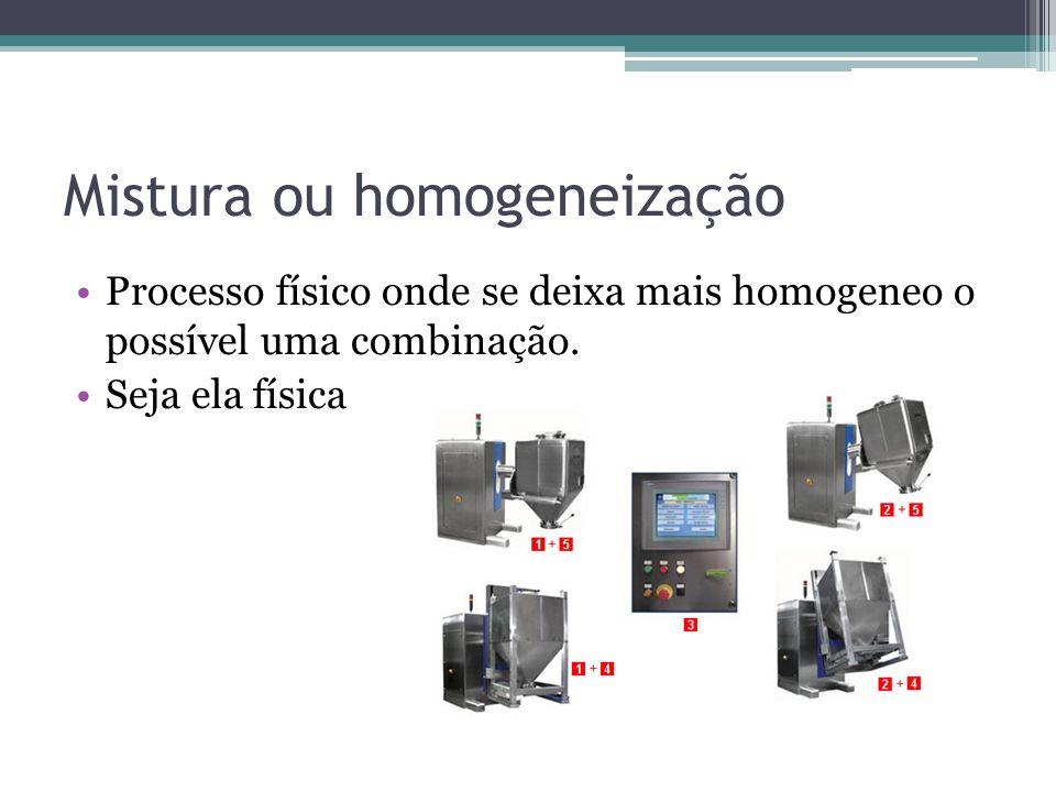 Mistura ou homogeneização