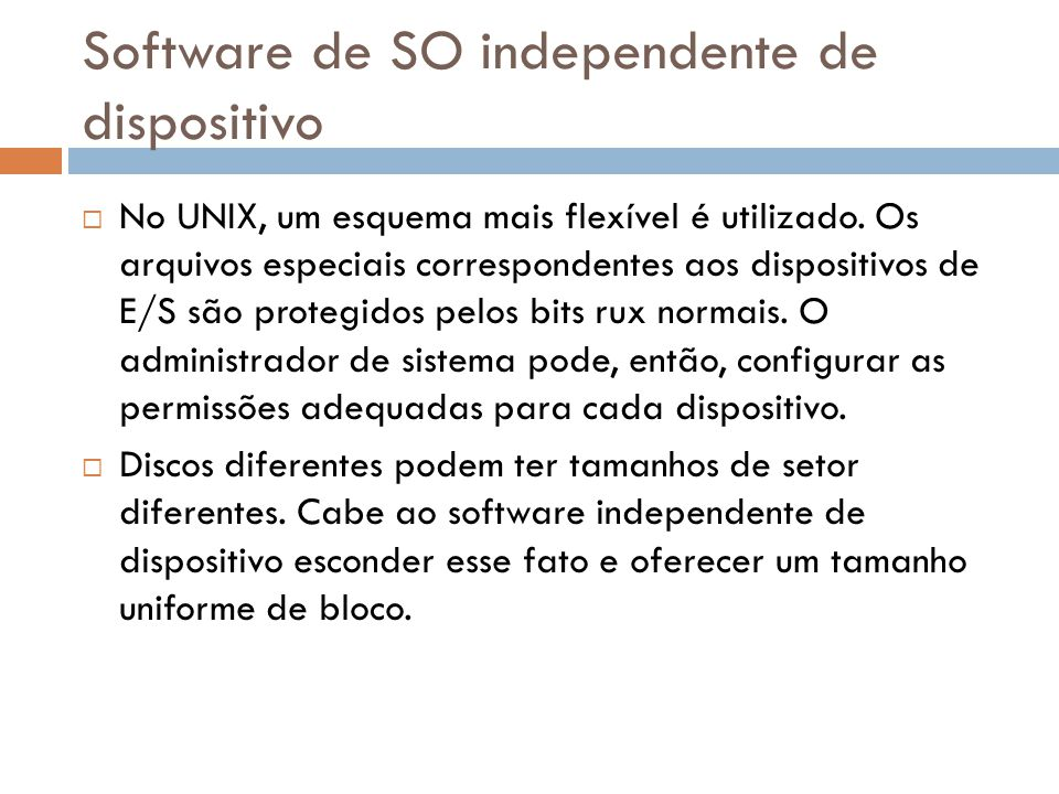 Software de SO independente de dispositivo