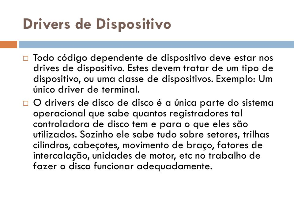 Drivers de Dispositivo