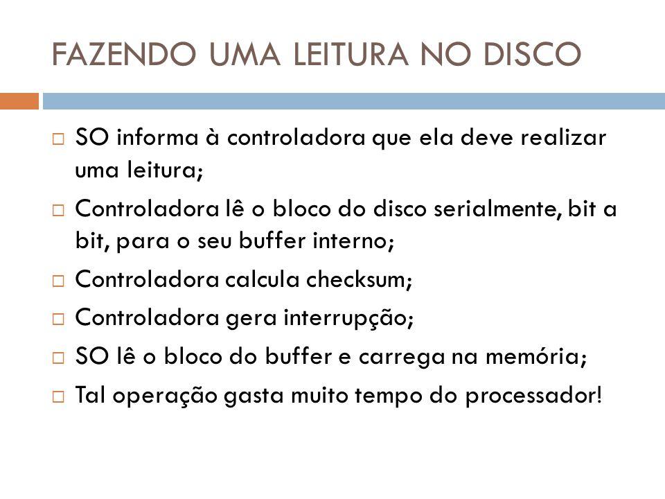 FAZENDO UMA LEITURA NO DISCO