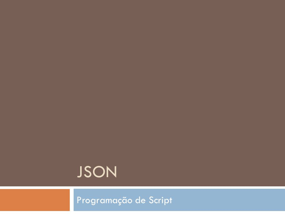 JSON Programação de Script