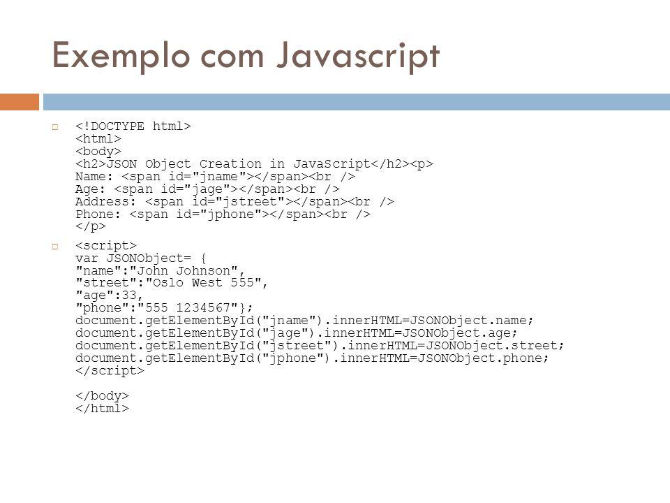 Exemplo com Javascript