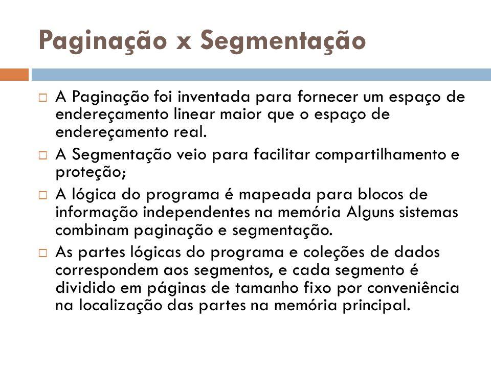 Paginação x Segmentação