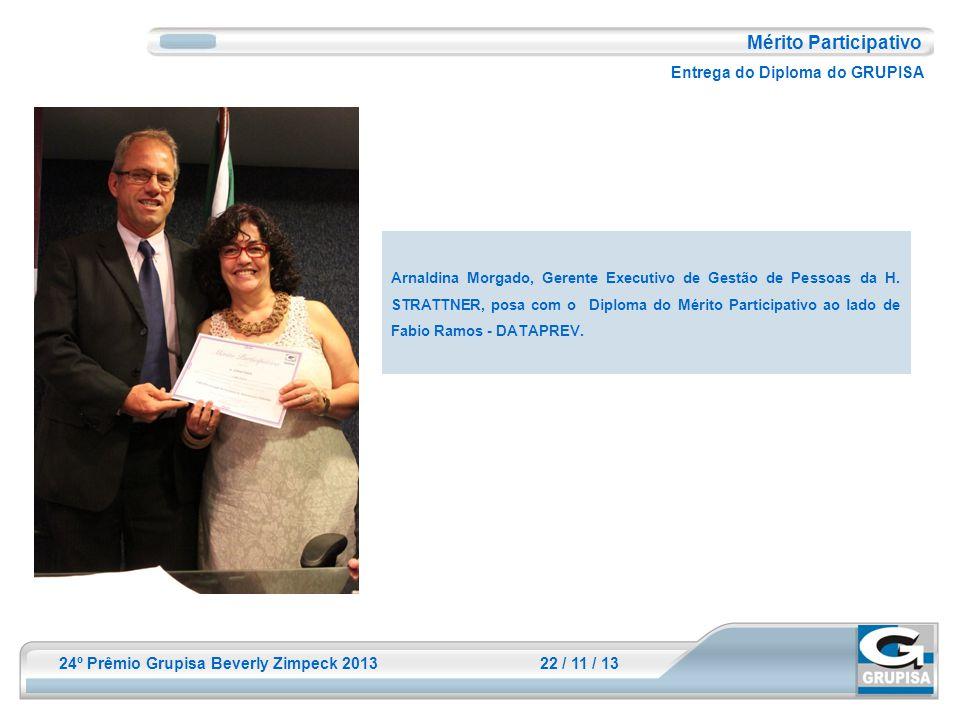 Mérito Participativo Entrega do Diploma do GRUPISA