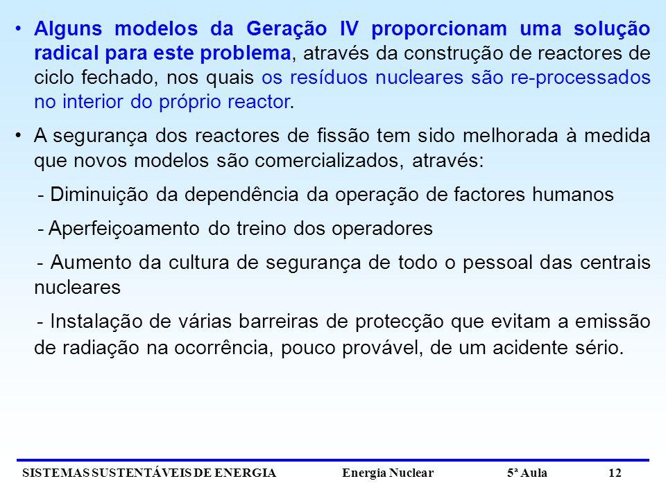 Alguns modelos da Geração IV proporcionam uma solução radical para este problema, através da construção de reactores de ciclo fechado, nos quais os resíduos nucleares são re-processados no interior do próprio reactor.