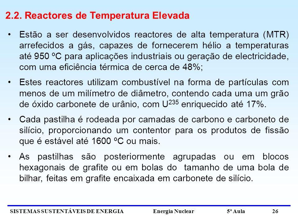 2.2. Reactores de Temperatura Elevada