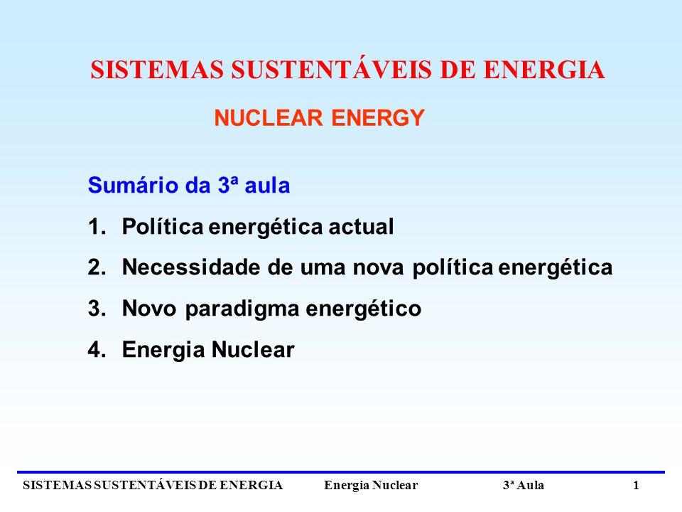 SISTEMAS SUSTENTÁVEIS DE ENERGIA