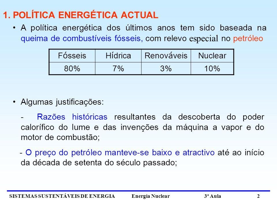 1. POLÍTICA ENERGÉTICA ACTUAL