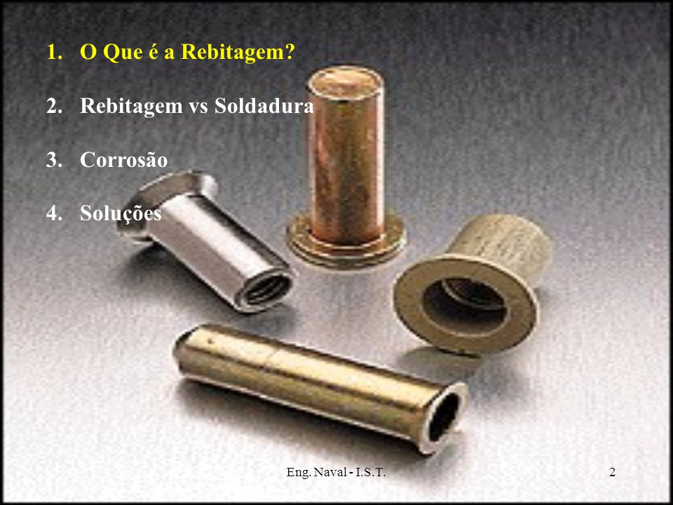 Rebitagem vs Soldadura Corrosão Soluções